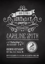 chalkboard birthday invitations chalkboard birthday invitations
