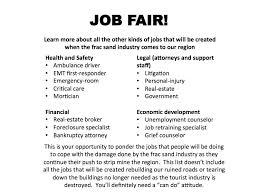 Job Fair Cover Letter Examples by Job Fair The Frac Sand Frisbee