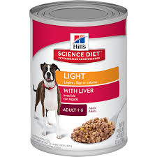 science diet light calories hill s science diet light with liver dog food canned