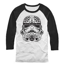 Black Flag Baseball Tee Star Wars Men U0027s Ornate Stormtrooper Baseball Tee