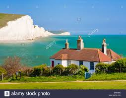 Coast Cottages by The Seven Sisters Cliffs The Coastguard Cottages South Downs Way