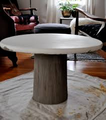 how to make a small table diy concrete pedestal table red house west