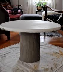 diy concrete pedestal table u2013 red house west