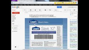 how to get a free lowes 10 off coupon email delivery youtube