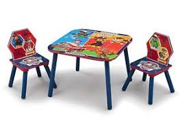 paw patrol kids table set paw patrol kids table and chairs set wooden activity playroom