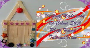 diy craft ideas make photo frame from ice cream sticks easy