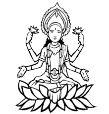 gods krishna coloring saraswati coloring lakshmi