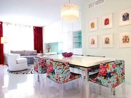 chic dining room space with interesting dining room lighting
