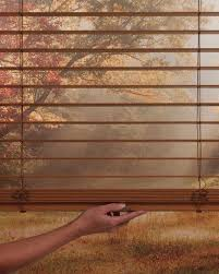 Hunter Douglas Blind Pulls Blinds Hunter Douglas Everwoodopened Close Up Jpg
