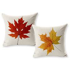 Sofa Pillow Cases Tool Gadget Autumn Leaves Decoration Pillow Covers Fall Maple Leaf