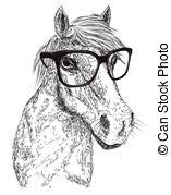 vector of vector closeup portrait of red horse close up portrait