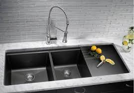 black undermount kitchen sink slate black undermount kitchen sinks with drainer the undermount