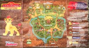 Map Of Animal Kingdom Lion Guard Adventure Map My Strange Family