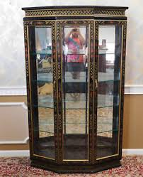 how to display china in a cabinet black china cabinet ebay