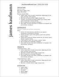 resume resume templates for highschool students applying to