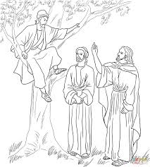 jesus and zacchaeus coloring page for shimosoku biz