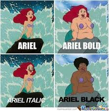 Different Types Of Memes - ariel in different types by zero0ne31 meme center