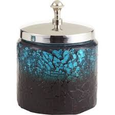 Pier 1 Imports Peacock Mosaic Bath Canister Polyvore