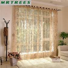 rideaux cuisine moderne brodé sheer rideaux fenêtre tulle rideaux pour salon
