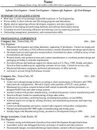 Qa Manual Tester Sample Resume by Software Qa Resume Experienced Qa Software Tester Resume Sample