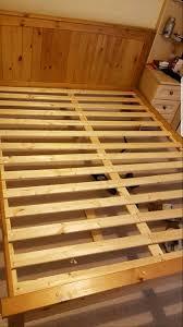 pine kingsize bed frame in hull east yorkshire gumtree