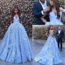 dh prom dresses 2018 vestidos de novia blue gown prom dresses