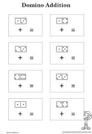 domino addition worksheet kindergarten printables
