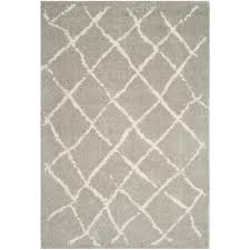 Cream And Grey Area Rug by Safavieh Carnegie Cream Light Gray 5 Ft 1 In X 7 Ft 6 In Area