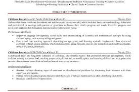 resume templates for kids child care provider resume template