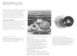 chagne ribbon about selectric typewriter museum ibm selectric model 71 ribbon