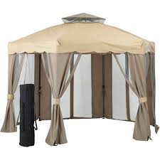 Outdoor Patio Grill Gazebo by Patios 10x10 Canopy Cover Replacement Garden Winds Gazebo