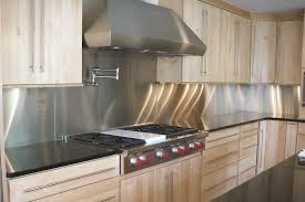 kitchen metal backsplash stainless steel backsplash with modern style with tiles and sheets