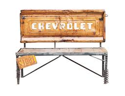 Bench Made From Tailgate Buy A Hand Made Chevrolet Truck Tailgate Bench Repurposed Car