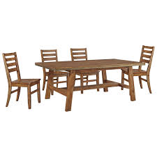 Rectangular Dining Room Table by 5 Piece Solid Wood Rectangular Dining Table Set By Signature