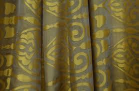 Black And Gold Curtain Fabric Drapery Fabrics