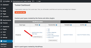 adding custom fields and taxonomies to woocommerce products toolset