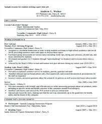 resume for part time job high student sle of resume for part time job by student sle resume high