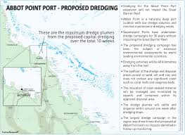 Great Barrier Reef Map Abbot Point Port Proposed Dredging Facts