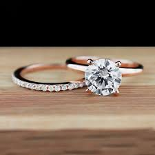 Rose Gold Wedding Ring Sets by Wedding Rings White Gold Diamond Wedding Ring Sets Wedding Rings
