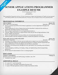 Software Engineering Manager Resume Senior Applications Programmer Resume Example Resumecompanion