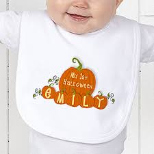 personalized baby u0027s first halloween pumpkin bib