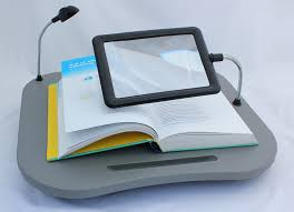 Cushioned Lap Desk by Cushioned Lap Tray Bed Reading Desk Magnifying Glass Light Lamp