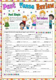 english worksheet mixed tenses review u2013 rules examples and