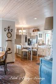 love the white washed plank ceiling farmhouse cabin vintage