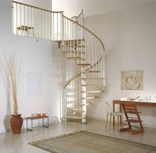 attractive concrete modern curved spiral staircase design with