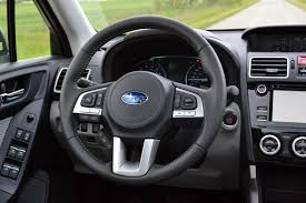 subaru forester steering wheel 2017 subaru forester limited review autoguide com news