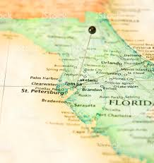 Map Of Tampa Florida Map Of West Florida Coastline St Petersburg And Tampa Stock Photo