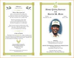 Funeral Program Designs 5 Free Funeral Program Template For Word Teknoswitch