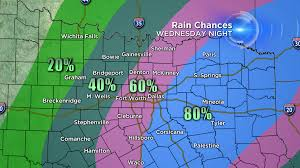 Texas Weather Map Flash Flood Concern And Severe Weather Threat For North Texas