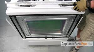 Whirlpool Gold Cooktop Parts Oven Outer Door Glass Part Wpw10118454 How To Replace Youtube